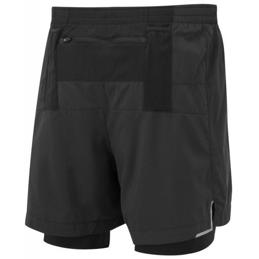 Ronhill Men's Infinity Marathon Twin Running Shorts All Black