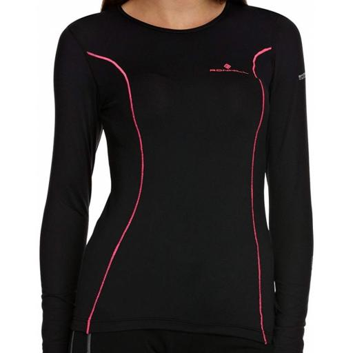 Ronhill Women's Base Thermal 100 Long Sleeve T-Shirt - Black
