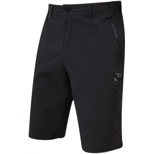 Sprayway Men's Compass Hiking and Travel Shorts - Black