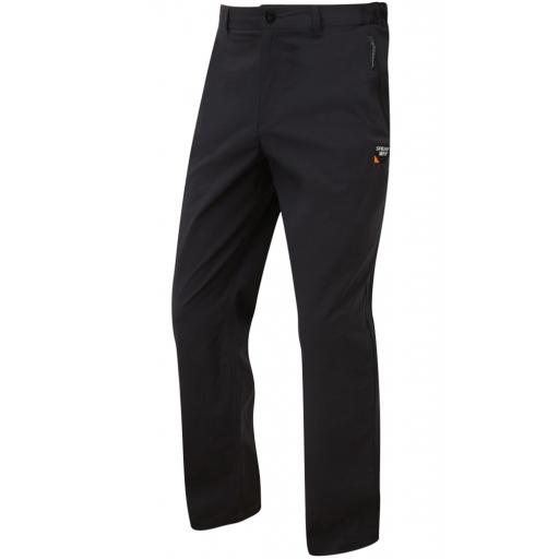 Sprayway Mens Compass Stretch Pants Lightweight Hiking Trousers - Black