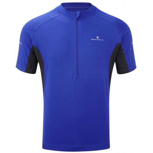 Ronhill Men's Bike, Cycling Zipped T-shirt