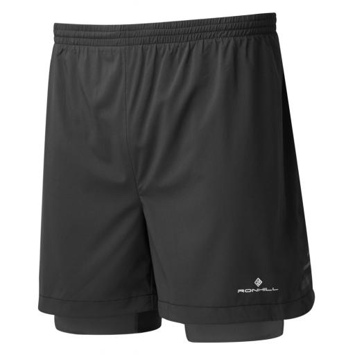Ronhill Men's Stride Twin Running Shorts Black