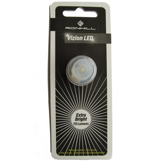 Ronhill Vizion Extra Bright LED Button Flashing Light - White