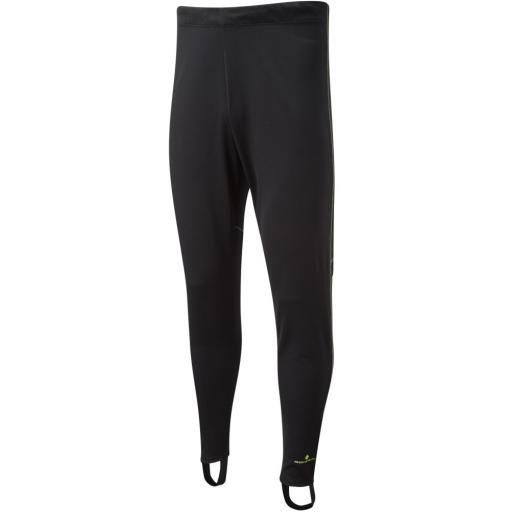 Ronhill Mens Everyday Trackster Running Pants - Black / Fluo Yellow
