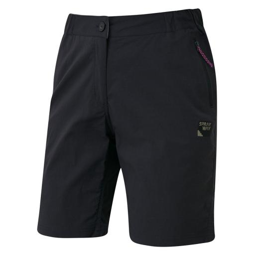 Sprayway Womens Escape Lightweight Hiking and Travel Shorts - Black
