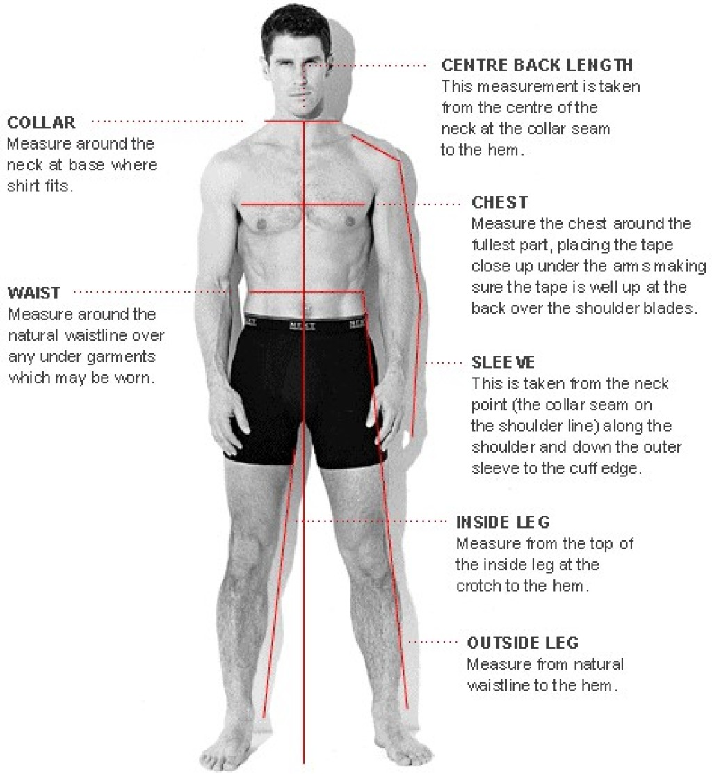 Mens Measurement Guide