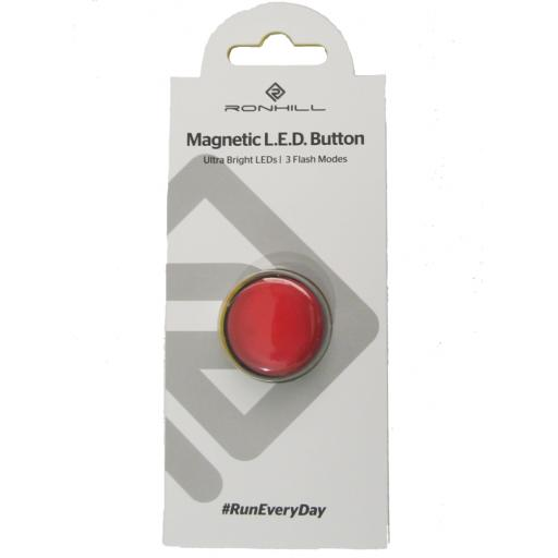 Ronhill Magnetic LED Button Extra Bright Flashing Red Light
