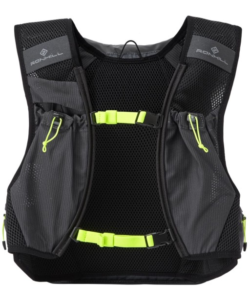 Ronhill Commuter Xero 10+5L Vest pack front Charcoal_Fluo_Yellow_1001.jpg