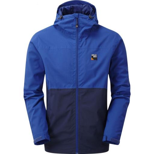 Sprayway Hergen Mens Waterproof Breathable Hooded Jacket - Blue
