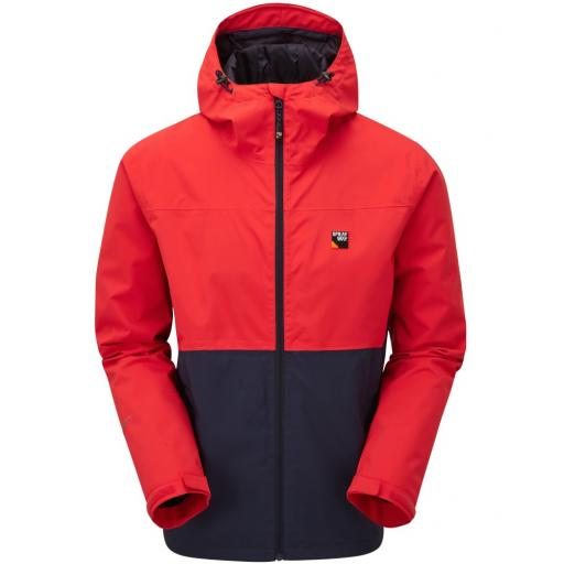 Sprayway Hergen Mens Waterproof Breathable Jacket with Hood - Red