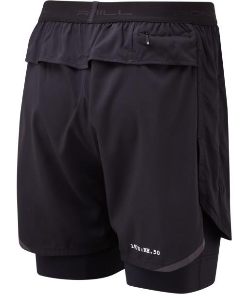 Ronhill Mens Stride Revive Twin Shorts_All_Black_rear_1001.jpg