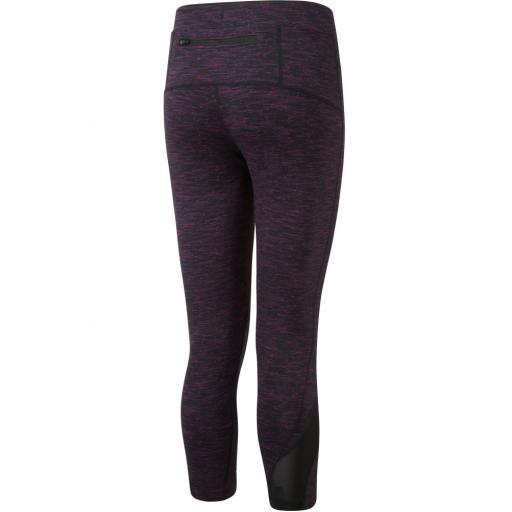 Ronhill Women's Infinity Crop Running Tights / Leggings - Black / Grape