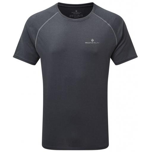 Ronhill Men's Everyday Short Sleeve Lightweight Running T-shirt - Gray