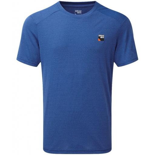 Sprayway Mens Logo Tee Lightweight Polygiene T-shirt - Blue