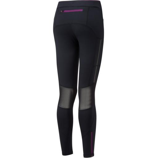Ronhill Women's Stride Stretch Running Tights / Leggings - Black / Grape