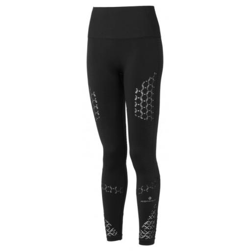 Ronhill Women's Life Seamless Exercise Running Tights / Leggings - Black