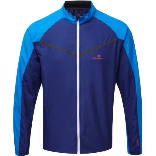 Ronhill Mens Stride Windspeed Lightweight Running Wind Jacket - Blue