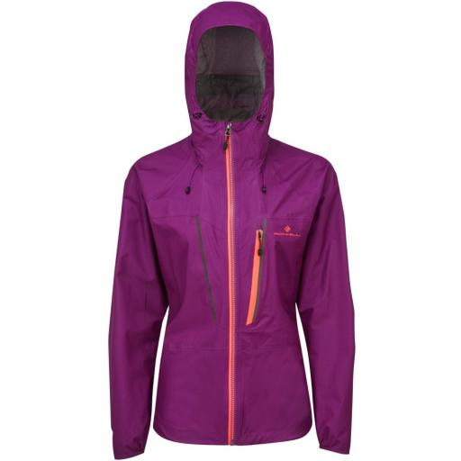 Ronhill Womens Infinity Fortify Waterproof Running Jacket - Grape
