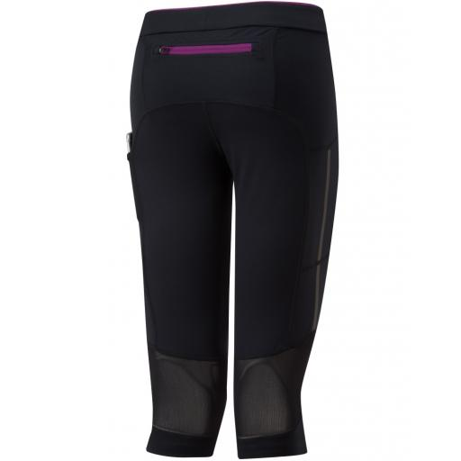Ronhill Women's Stride Stretch Running Capri - Black / Grape