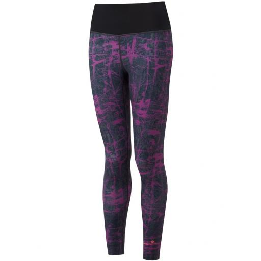 Ronhill Women's Momentum Crop Running Tights / Leggings - Grape