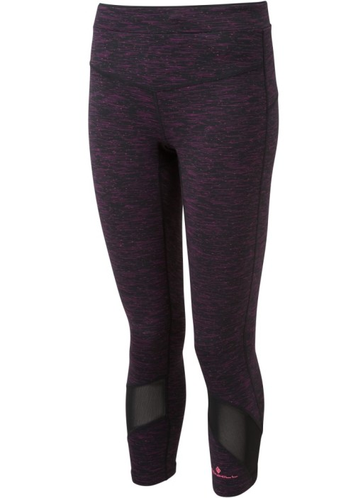 Ronhill Womens Infinity Crop Tight_Front_Dark_Purple_Marl_1001.jpg