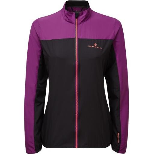 Ronhill Womens Stride Windspeed Running Jacket - Black / Grape