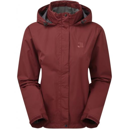 Sprayway Womens Gemini Lightweight Waterproof Hiking Jacket - Maroon