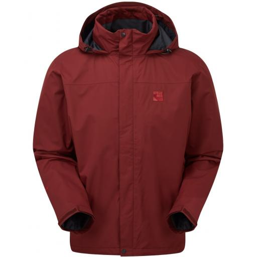 Sprayway Mezen Mens Waterproof Lightweight Packable Hiking Jacket - Burgundy