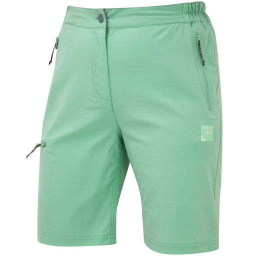 Sprayway Womens Escape Lightweight Hiking and Travel Shorts - Green
