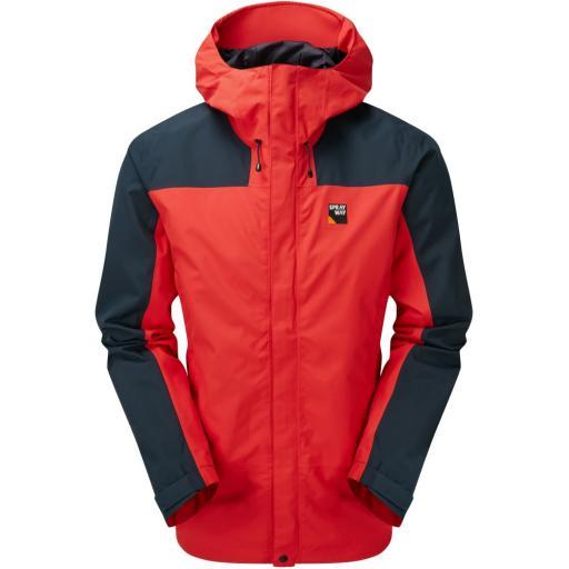 Sprayway Hain Mens Long Waterproof Hiking Jacket - Red