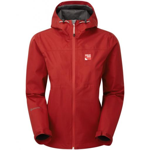 Sprayway Kelo Womens Lightweight Waterproof Packable Gore-Tex Jacket - Red