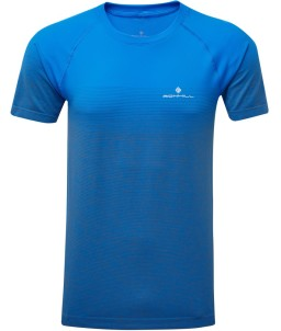 Ronhill Mens Infinity Marathon t-shirt_Electric_Blue_Gray_front_1001.jpg