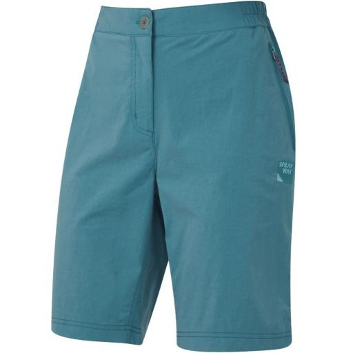 Sprayway Womens Escape Lightweight Hiking and Travel Shorts -S Blue