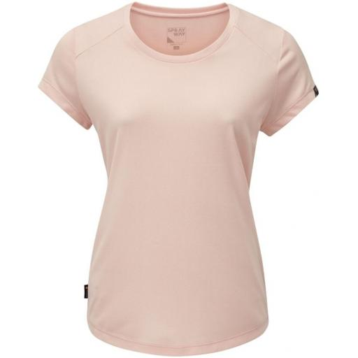 Sprayway Womens Clauran Tee Short Sleeve Hiking Top - Pink