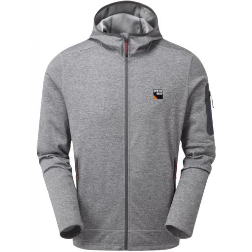 Sprayway Men's Saul Hoody Fleece Jacket - Grey