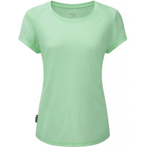 Sprayway Womens Clauran Tee Short Sleeve Hiking Top - Green