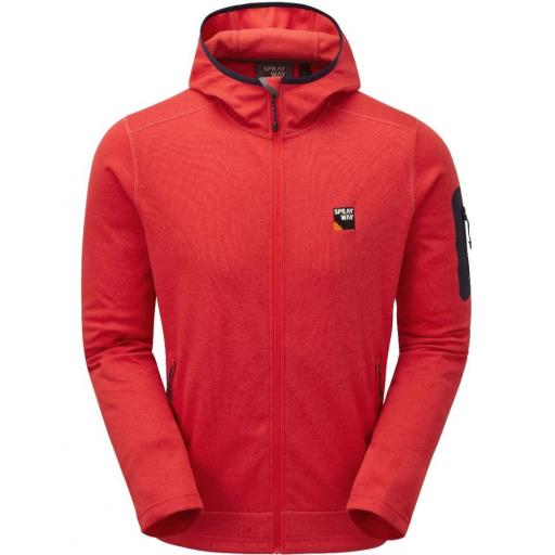 Sprayway Men's Saul Hoody Fleece Jacket - Red
