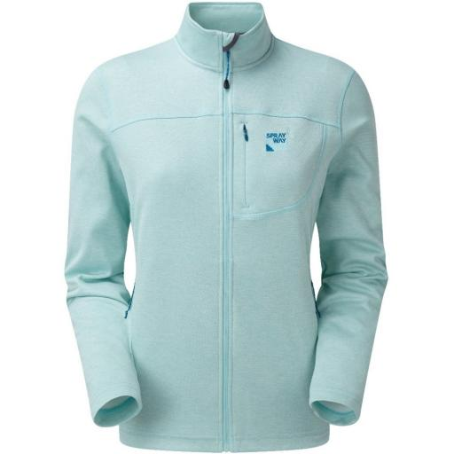 Sprayway Women's Piper Lightweight Fleece Hiking Jacket - Blue