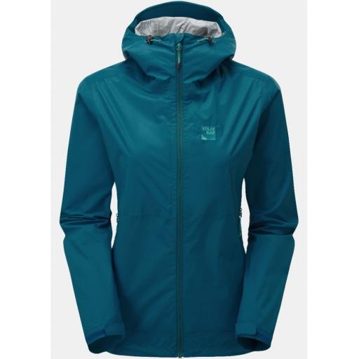 Sprayway Leja Womens Waterproof Lightweight Packable Hiking Jacket - Blue