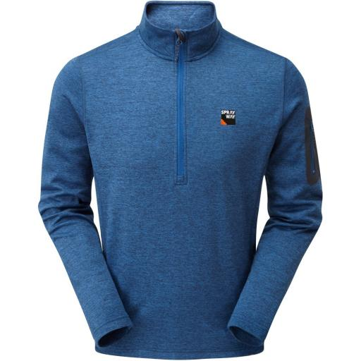 Sprayway Men's Saul Lightweight Fleece Half-Zip Pullover Top - Blue