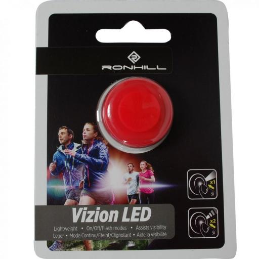 Ronhill Extra Bright LED Button Flashing Light - Red