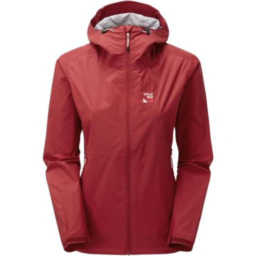 Sprayway Leja Womens Waterproof Lightweight Packable Hiking Jacket - Red