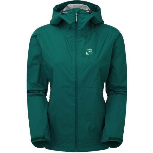 Sprayway Leja Womens Waterproof Lightweight Packable Hiking Jacket - Green