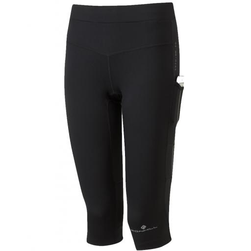 Ronhill Women's Tech Revive Lycra Stretch Running Capri - Black