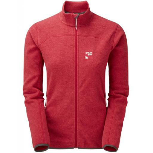 Sprayway Women's Berit Warm Fleece Hiking Jacket - Red