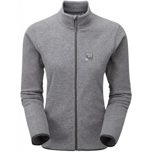 Sprayway Women's Berit Fleece Hiking Jacket - Grey