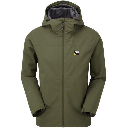 Sprayway Hergen Mens Waterproof Breathable Hooded Jacket - Green