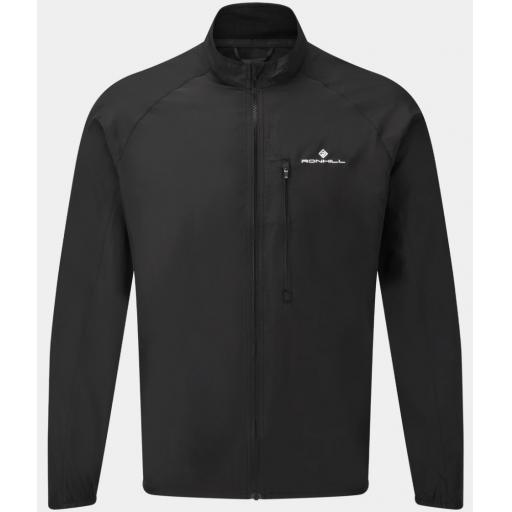 Ronhill Men's Core Wind Jacket Windproof Running Top- Black