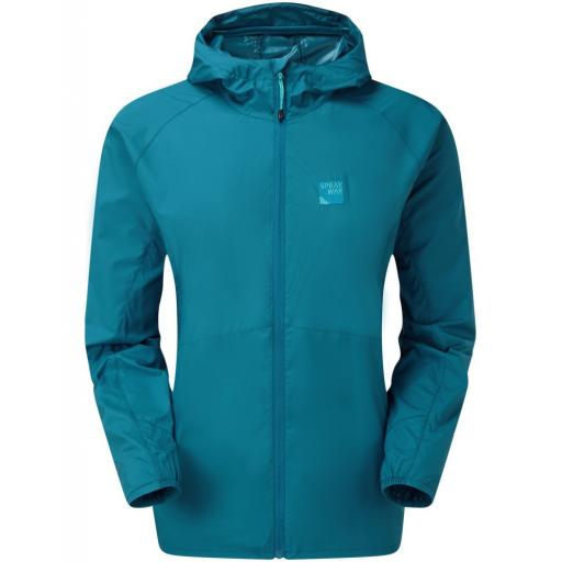 Sprayway Dusa Womens Weather Resistant Ultra Lightweight Packable Jacket - Blue