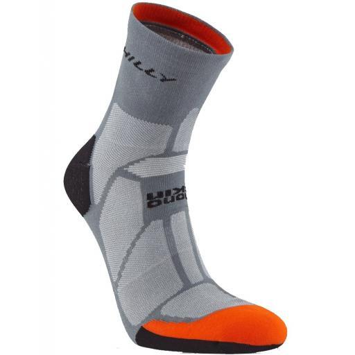 Hilly Men's Marathon Fresh Running Socks - Grey
